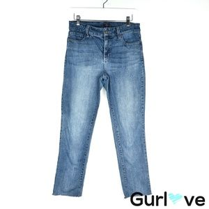 NYDJ Skinny Raw Hem Ankle Jeans Size 8